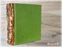 """Gästebuch """"RUSTICUS"""" verziert mit einem Buchrücken aus Holz"""