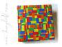 Kinderfotoalbum - 30cm x 30cm, 100 Seiten weiß, Hardcover gepolstert, Bezug: Lizenzstoff Legosteine