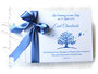 Gästebuch Taufe weiß aquablau