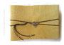 Großes Lederalbum 35cmx25cm, 100 Seiten elfenbeinfarben, Metallanhänger Herz