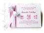 Gästebuch Taufe pink weiß