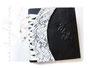 Fotoalbum Korsett und Initialen - 30cmx30cm, 100 Seiten weiß, Bezug: Crash-Lederimitat schwarz, Korsett: Baumwoll-Spitze naturweiß, Satinband-Kordel creme, silberfarbene Hohlnieten, Metall-Buchecken mattschwarz.