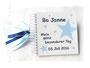 Fotoalbum zur Namensgebung in den Farben weiß, hell- und dunkelblau; mit Sternen.