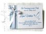 Gästebuch Taufe hellblau weiß