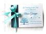 Gästebuch Taufe blau weiß türkis