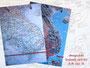 """Reisetagebuch """"Asien"""" - Ringbuch mit Buchgummi nach oben öffnend für Linkshänder"""