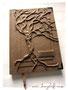 """Baumtagebuch - Hardcover-Reliefeinband """"Der Baum des Lebens"""" - Format A4, 100 Blatt/200 Seiten, Einbandmaterial camelfarben, Messingschild mit Gravur und Metall-Buchecken. HERZLICHEN DANK an ڿڰ✿ Familie Roth"""