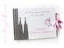 Gästebuch zur Taufe mit Schleifenverschluss, individuell bedrucktem Einband und Kölner Dom-Applikation in den Farben weiß, rosa und grau. Anfertigung in jedweder Farbkombination möglich. Ich danke ڿڰ✿ C.S.