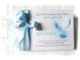 Gästebuch Taufe grau weiß hellblau