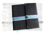 Tagebuch - 21cmx21cm, 160 Seiten weiß, Gepolsteter Einband mit Klappe und Magnetverschluss, Bezug: Baummwollstoff, umlaufende Spitzenborte mit Karoband, Buchschmuck: Edelweiss, Metallbuchecken