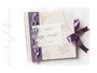 Foto-Gästebuch in der farben  in creme, lila und rosa. Ihr Gästebuch in Ihren Wunschfarben.