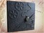 """Großes Fotoalbum & Gästebuch """"ZeitReise"""" - Sonderanfertigung im Format 35cm x 35cm mit schwarzem Fotoalbum-Buchblock. HERZLICHEN DANK S&H"""