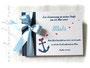 Foto Gästebuch Taufe Herzanker blau weiß rot selbst gestalten