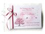 Gästebuch Taufe weiß rosa altrosa