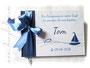 Gästebuch Taufe dunkelblau weiß aquablau