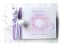 Gästebuch Taufe flieder weiß rosa