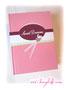 Rezeptbuch in den Farben pink/rosa/weiß/hellgrün/brombeer