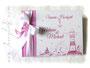 Foto-Gästebuch - 21cmx16cm, 20 Blatt weiß, mit individueller Grafik bedruckter Einband in den Farben pink und weiß