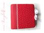 Gepolstertes Fotoalbum - 30cmx30cm, 100 Seiten weiß, Bezugstoff: Leinen bedruckt, Buchschmuck: Zierborte weiß, Schleifenverschluss weiß, Metall-Buchecken weiß.