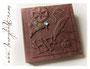 """Fotoalbum im Format 35cm x 35cm mit 50 Blatt schwarzen Fotokartons. Relief-Covergestaltung """"Steampunk"""" nach den Vorstellungen von H.F. ڿڰ✿ HERZLICHEN DANK!"""