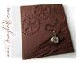 """Fotoalbum """"ZeitReise"""" - Relief-Einband bezogen mit Lederimitat in Bronzebraun. Dieses Album fertige ich in 8 verschiedenen Farben an."""