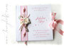 Gästebuch Taufe weiß rosa silberfarben
