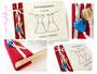 Foto-Gästebuch mit bedrucktem und folierten Einband, sowie Buchschmuck - Samt, Satinband, Glasherzen. Buchblock elfenbeinfarben.