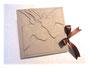 Fotoalbum und Gästebuch mit individueller Gestaltung - Der Relief-Einband ist mit hochwertigem Lederimitat der Farbe antique-white-pearl bezogen. Der Schleifenverschluss aus Satin rundet das Erscheinungsbild ab. Herzlichen Dank an ڿڰ✿ C. Moss