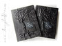 Erinnerungsbuch mit Baumrelief - Hardcover-Einband mit Einschub für wechselbare Innenbücher im  A4-Format.