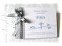 Gästebuch Taufe hellgrau weiß blau