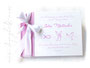 Foto-Gästebuch Taufe 3 Taufsymbole rosa weiß selbst gestalten