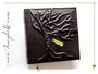 """Foto-Gästebuch """"The Tree of Life"""" zur Erinnerung an die Hochzeit - Relief-Einband bezogen mit Kalbslederimitat in dunkelbraun. Lieben Dank an ڿڰ✿ J.R. aus W."""