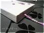 Poesiealbum weiß lila - Hardcoverbuch mit weißem Einband, Buchblock mit wechselnden Lagen von weißem und lilafarbenen Papier, sowie lilafarbenem Leseband mit weißen Perlen. Coverdekoration Initialen und Blumen. Mein DANK an ڿڰ✿ H&F aus F.