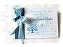 Gästebuch Taufe blau weiß hellblau