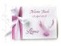 Gästebuch Taufe pink weiß fuchsia