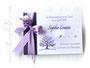 Gästebuch Taufe violett weiß flieder