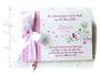 Gästebuch Taufe rosa weiß fuchsia