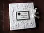Fotoalbum mit Reliefeinband - Format 30cm x 30cm mit 50 Blatt und Bezug mit Nappa-Velour-Lederimitat in naturweiß. Coverdekoration nach den Vorstellungen von ڿڰ✿ S.K. aus N. - DANKE!