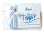 Foto-Gästebuch hellblau weiß marineblau selbst gestalten