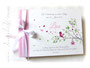 Fotoalbum Taufe - 35cmx25cm, 50 Blatt elfenbeinfarben, individuell bedrucktes Einbandmaterial weiß, rosa und elfenbeinfarben.