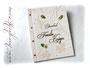 Stammbuch - Elfenbeinfarbener Einband mit Buchschrauben. Im Inneren: Klarsichthüllen A4. Coverdekoration mit Blumen, Perlen und individueller Beschriftung. Angefertigt für die künftige Familie Krüger. HERZLICHEN DANK!