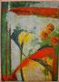 """Flowers1"", 72cm x 52cm, Mischtechnik Acryl, Öl- Pastellkreiden, verkauft"