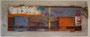 ohne Titel 109cm x 44cm, Mischtechnik, Acryl, Ölkreide, Pastellkreide, Treibholz, verkauft