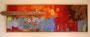 """""""Der Fuchs"""" 92cm x 32cm,Mischtechnik, Acryl, Ölkreide, Naturmaterialien, verkauft"""