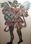 Arcangel, gravure maruflée sur toile, 116 x 81 cm, 2011