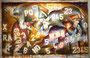 Ladrones de ganado, technique mixte sur toile,  146 x 97 cm, 2013