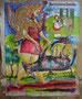 Mes histoires favorites, technique mixte sur toile,  65 x 50 cm, 2013
