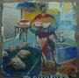 sans titre, technique mixte sur carton, 146 x 146 cm, 2011