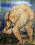 El agricultor technique mixte sur toile, 65 x 50 cm, 2011