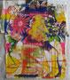 Tentation, technique mixte marouflé sur toile, 65 x 50 cm 2013